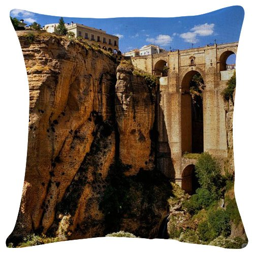 Pillowcase Ronda Andalucia Spain - Decorative Personalized Throw Pillow Cover - Soft Microfiber Polyester (Double sided printing) 18x18 Inches by Pillowcase