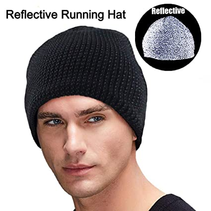 7f78c14d3 Oeyliz Beanie Men Women Running Hat Reflective Running Beanie Unisex Skull  Cap Skull Knit Hat Cap Men Women Daily Knit Beanie High Visibility Warm ...
