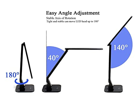 desk lamp taotronics table lamps led elune touch control 5 level desk lamp taotronics table lamps led elune touch control 5 level dimmable 4 lighting modes flexible arm 1 hour auto timer 5v 1a usb port