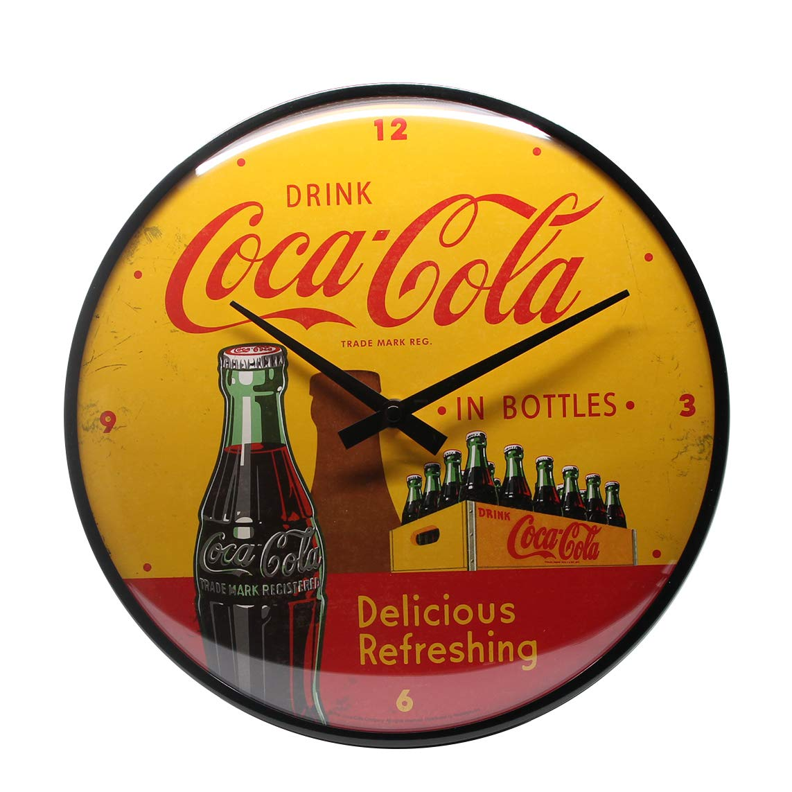 Nostalgic-Art Coca-Cola-In Bottles Yellow Reloj Decorativo ...