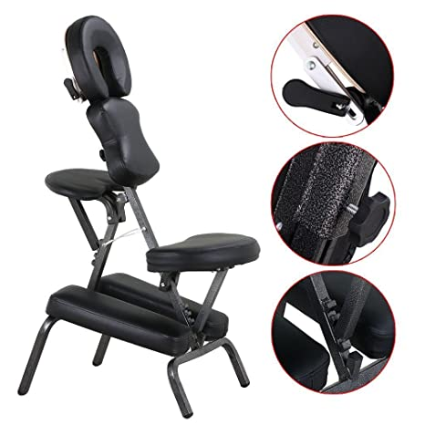 Magnificent Popamazing Height Adjustable Massage Chair Stool Indian Head Massage Tattoo Salon Reiki With Thick Padcarrying Bagportableblack Pdpeps Interior Chair Design Pdpepsorg
