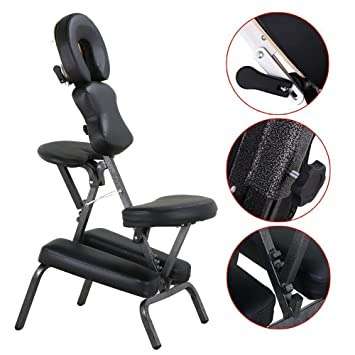 Popamazing Height Adjustable Massage Chair Stool Indian Head Massage Tattoo  Salon Reiki With Thick Pad,