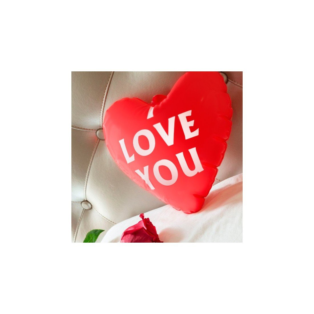 Corazón Hinchable I Love You: Amazon.es: Deportes y aire libre