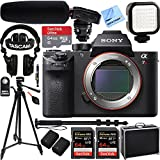 Beach Camera Sony a7R III Full-frame Mirrorless Interchangeable Lens 42.4MP Camera Body w/Tascam DSLR Audio Recorder and Shotgun Microphone + 128GB & 64GB a7RIII Pro Video Bundle