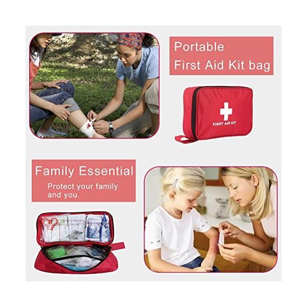 Botiquín de Primeros Auxilios de 180 Piezas WEINAS® Kit de Primeros Auxilios Súper Compacto y Profesional para Hogar… 4