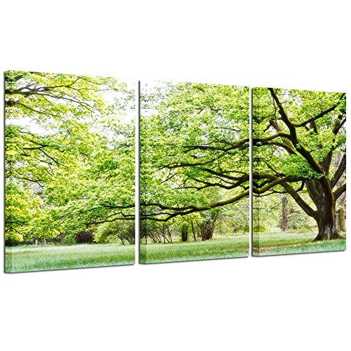 (Kreative Arts - 3 Pieces Modern Canvas Painting Wall Art Tree Picture For Home Decoration Spring Landscape Print On Canvas Giclee Artwork For Wall Decor)