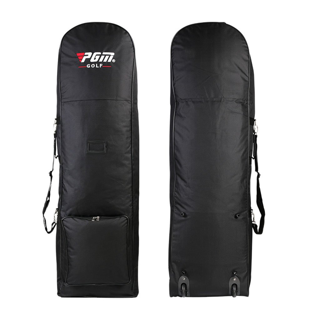 PGM Golf Club Travel Bag Cover ---- Black with Wheels, Nylon