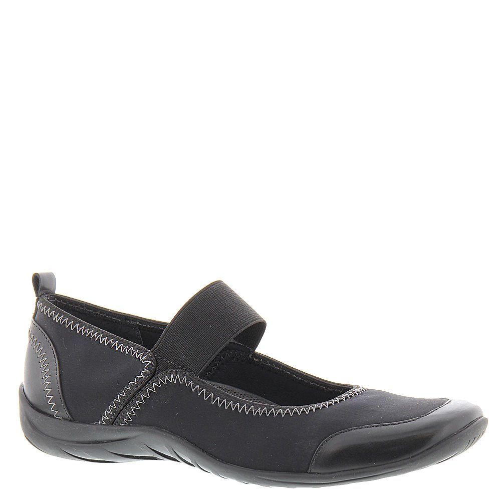 Walking Cradles Womens Applause Leather Square Toe Mary Jane Flats