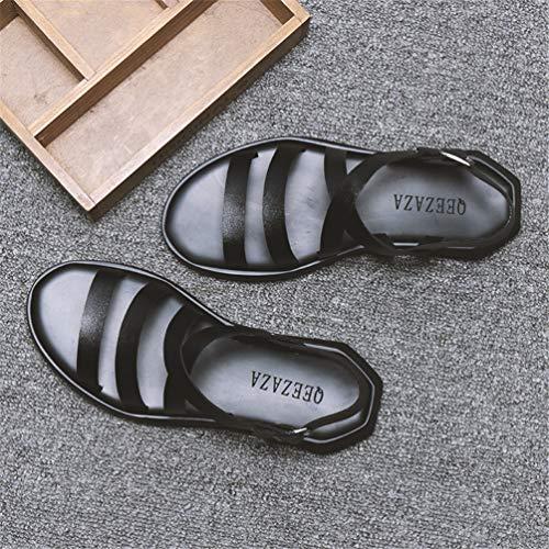 a Sandali Scarpa Piedi di Nero in della Sandalo da Nudi Pelle Scarpa Acqua Morbida Piscina Pantofola Sport Uomo Uomo p8rwq1xp