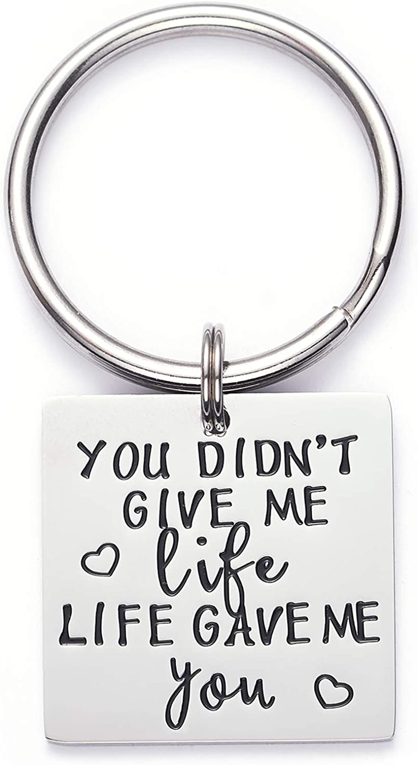 Best StepMom Ever! Personalized Free Step Mom Keychain Gift Simple and Pretty