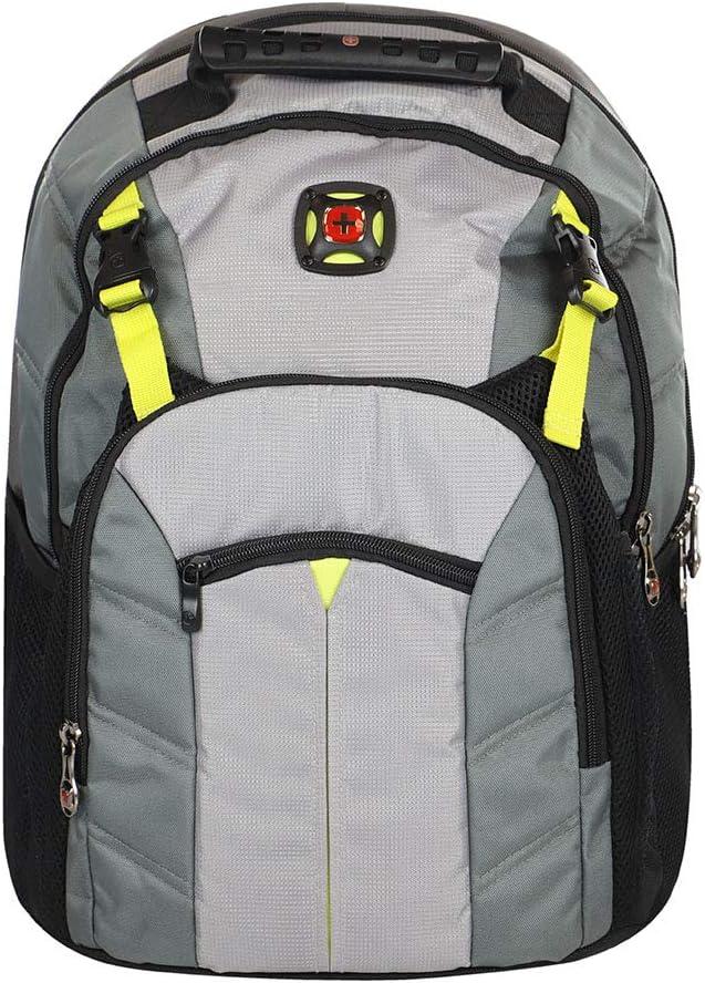 """SwissGear Sherpa 16"""" Padded Steel Grey Laptop Backpack Case"""