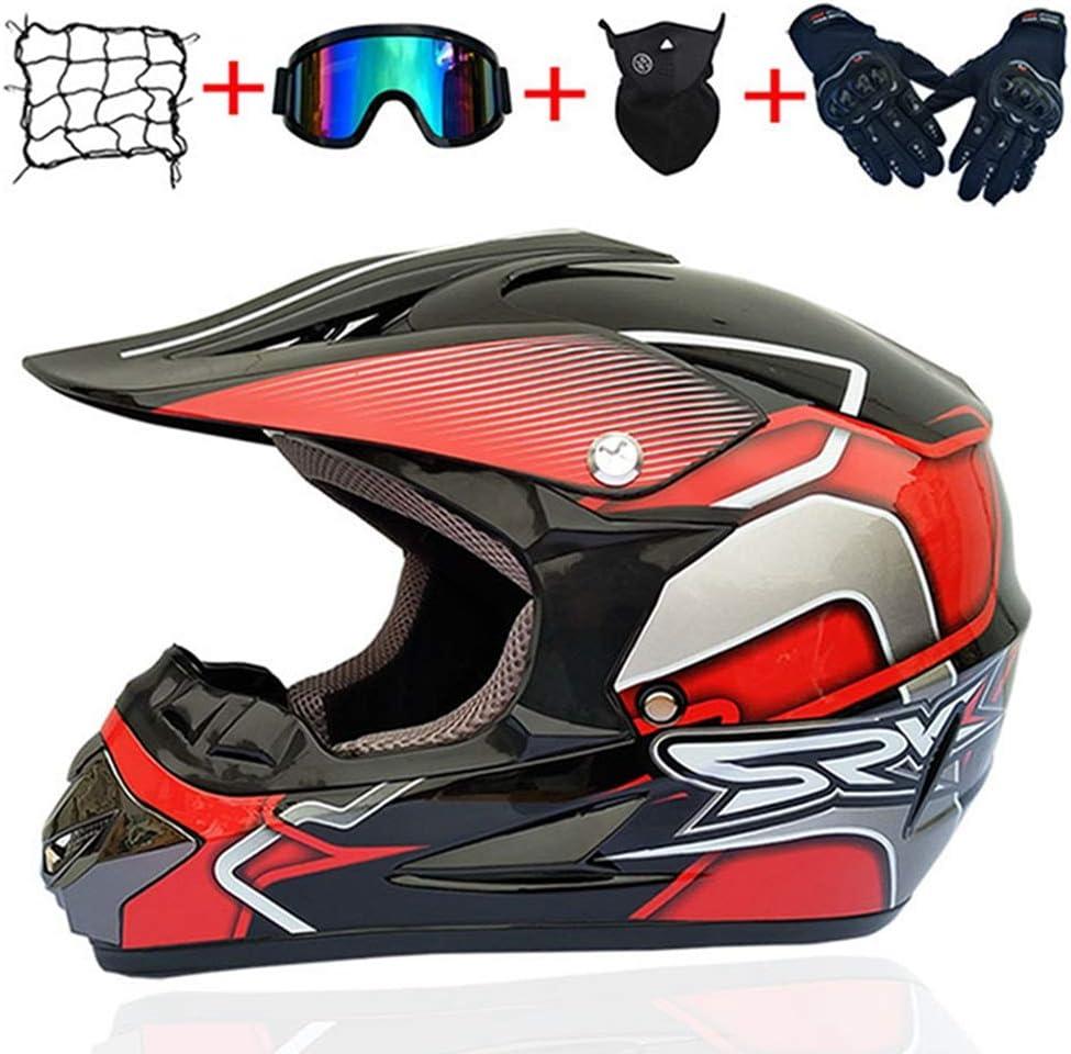 Lot de 5 paires de gants de moto unisexe pour moto tout-terrain motocross quad motocross motocross quad moto.