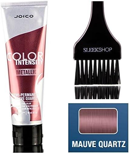 Joico Intensidad del color metálico semi-permanente en crema de color de pelo (liso Con Tinte cepillo) (malva cuarzo)