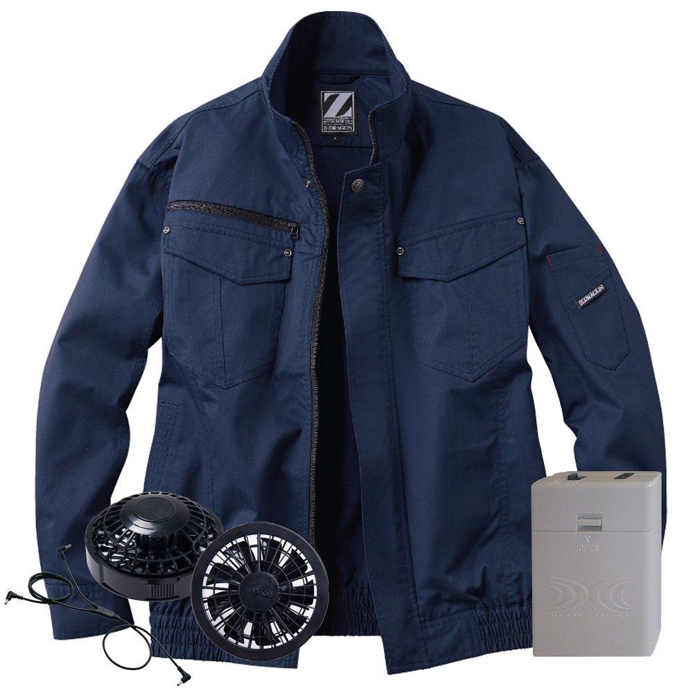 空調服 Z-DRAGON ブルゾン黒ファン電池ボックスセット 74011 自重堂 B07D6C48GT 4L|11ネービー 11ネービー 4L