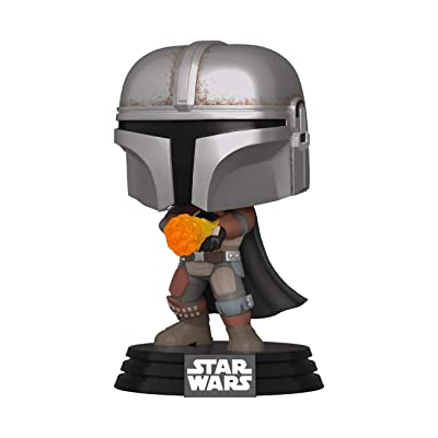 Funko Pop Star Wars The Mandalorian with Flame Exclusive: Toys & Games