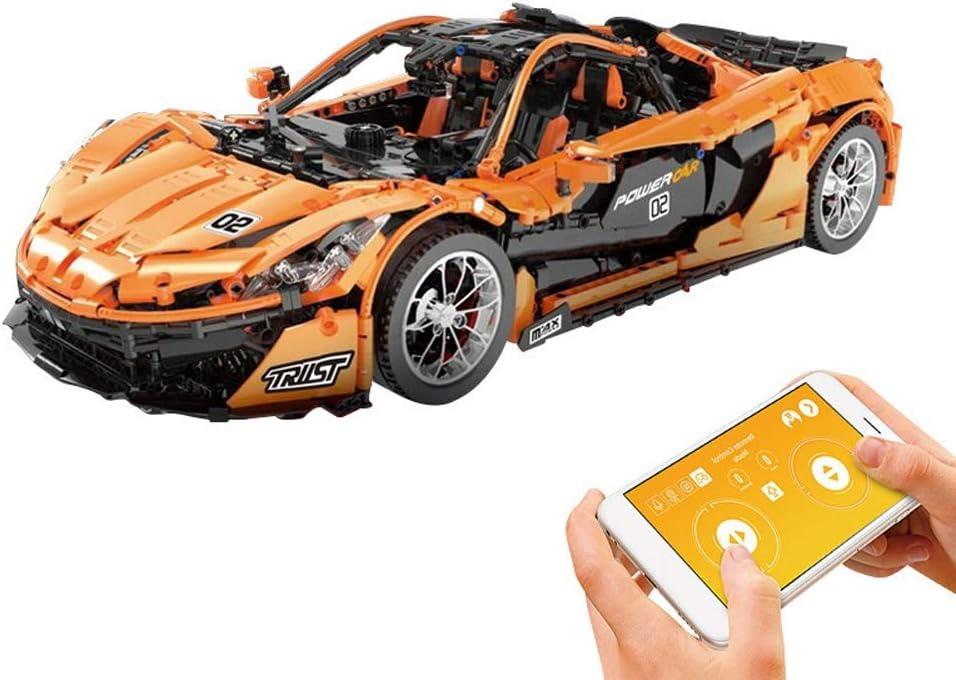 ビルディング・ブロック - P1レーシングスポーツカーエレクトリックは、リモートコントロールカーは、APPプログラミングのおもちゃを組み立て