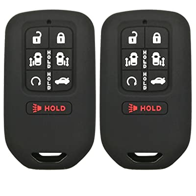 2Pcs Coolbestda Silicone 7buttons Key Fob Remote Skin Cover Protector Keyless Entry Case Accessories for 2020 2020 2020 Honda Odyssey elite Ex: Automotive
