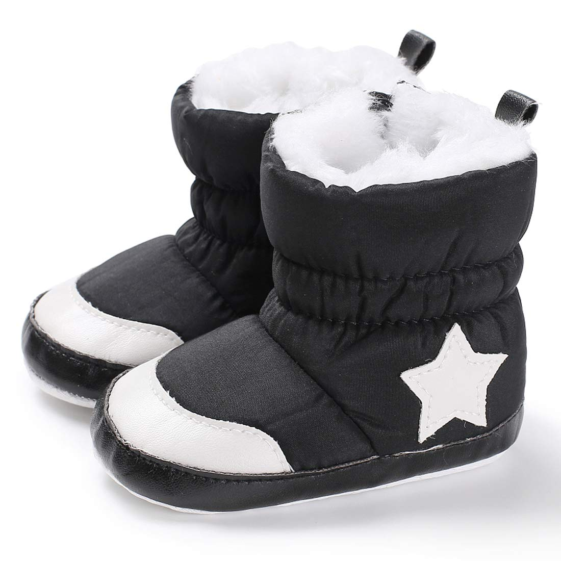 Kimber ❤️ Baby Premium Soft Sole Star Anti-Slip Mid Calf Warm Winter Infant Boots Toddler Snow Boots