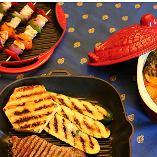 Chasseur 2.1-quart Red 'Duck' French Enameled Cast Iron Terrine by Chasseur (Image #5)