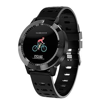 YOMRIC Relojes Inteligentes móviles CF58 Reloj Inteligente IP67 A Prueba de Agua Actividad de Cristal Templado Monitor de Ritmo Cardíaco Deportes Hombres ...