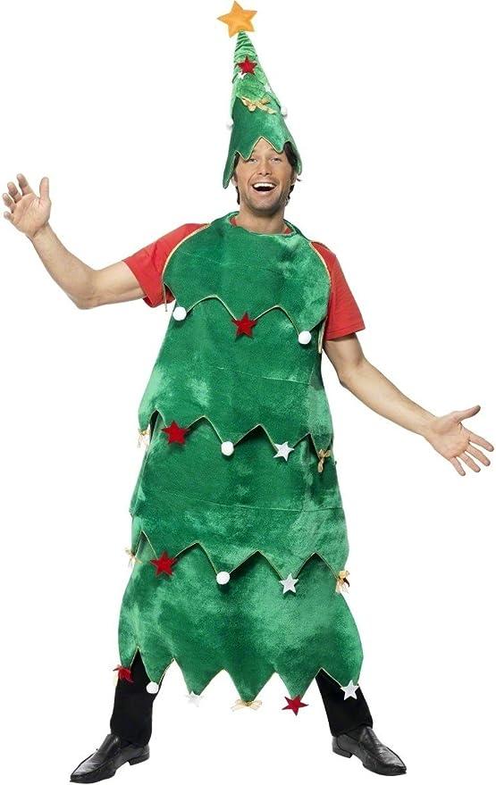 Desconocido Disfraz de árbol de Navidad para adulto: Amazon.es ...
