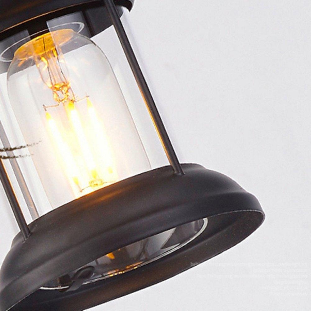 QIANG&BEN QIANG&BEN QIANG&BEN Landretroglasleuchter kreative industrielle Artbarkaffee-Bekleidungsgeschäft-Restaurant-Massivholzlampen B07PS584Q3 | Angemessener Preis  80ed9e