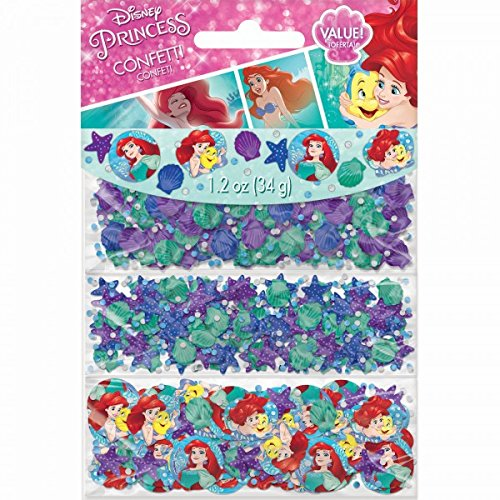Amscan Girls Enchanting Disney Ariel Dream Big Birthday Party Value Confetti Decoration (Pack of 1), Multicolor, 1 1/5 oz for $<!--$4.76-->