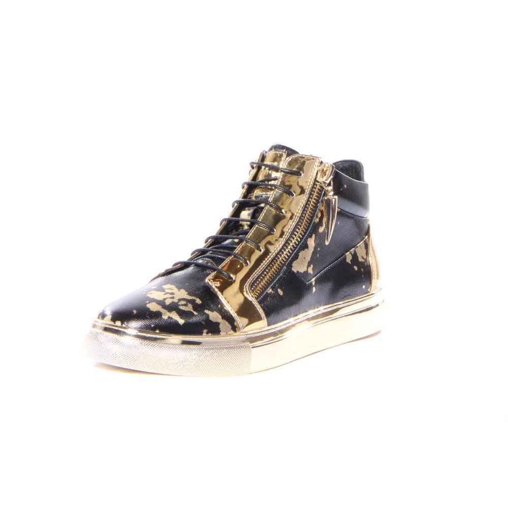J75 by Jump Men's Zack High-Top Fashion Sneaker Gold 8 D US