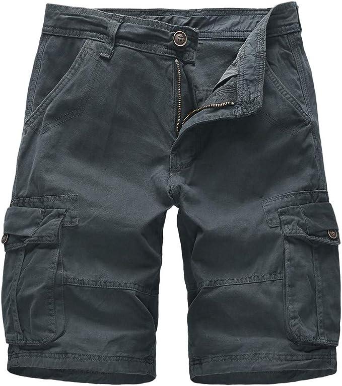 Pantalon Corto Cargo Hombre Sasstaids Pantalon Corto Algodon ...