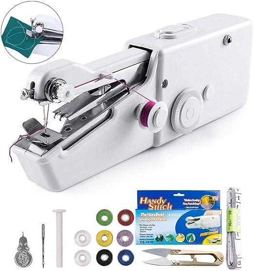 Máquina de coser Fnova de mano, mini máquina de coser eléctrica ...