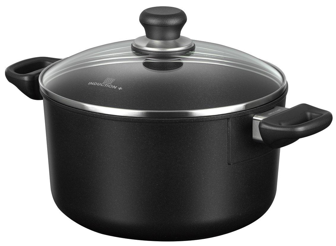 Scanpan Induction Plus Non-Stick Dutch Oven, 6.5 quart, Black