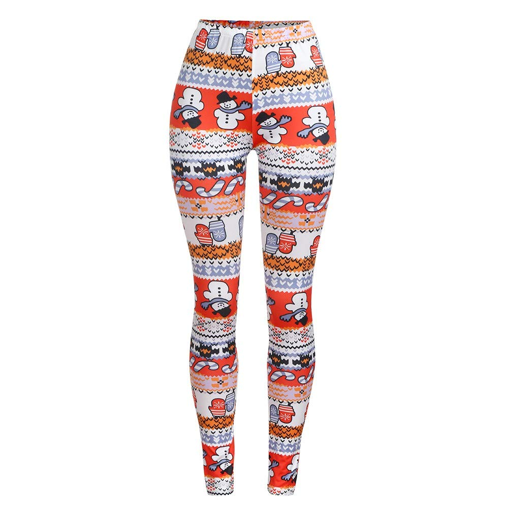 Christmas Family Pants,Fineser Christmas Mommy&Me Long Pants Family Matching Slim Pencil Trousers Snowman Letter Print