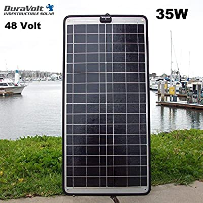 !! NEW for 2017 !! - 48 Volt solar charger - 35.0 Watt 48V 1/2 A Solar Maintainer - Plug & Play - for Golf Carts