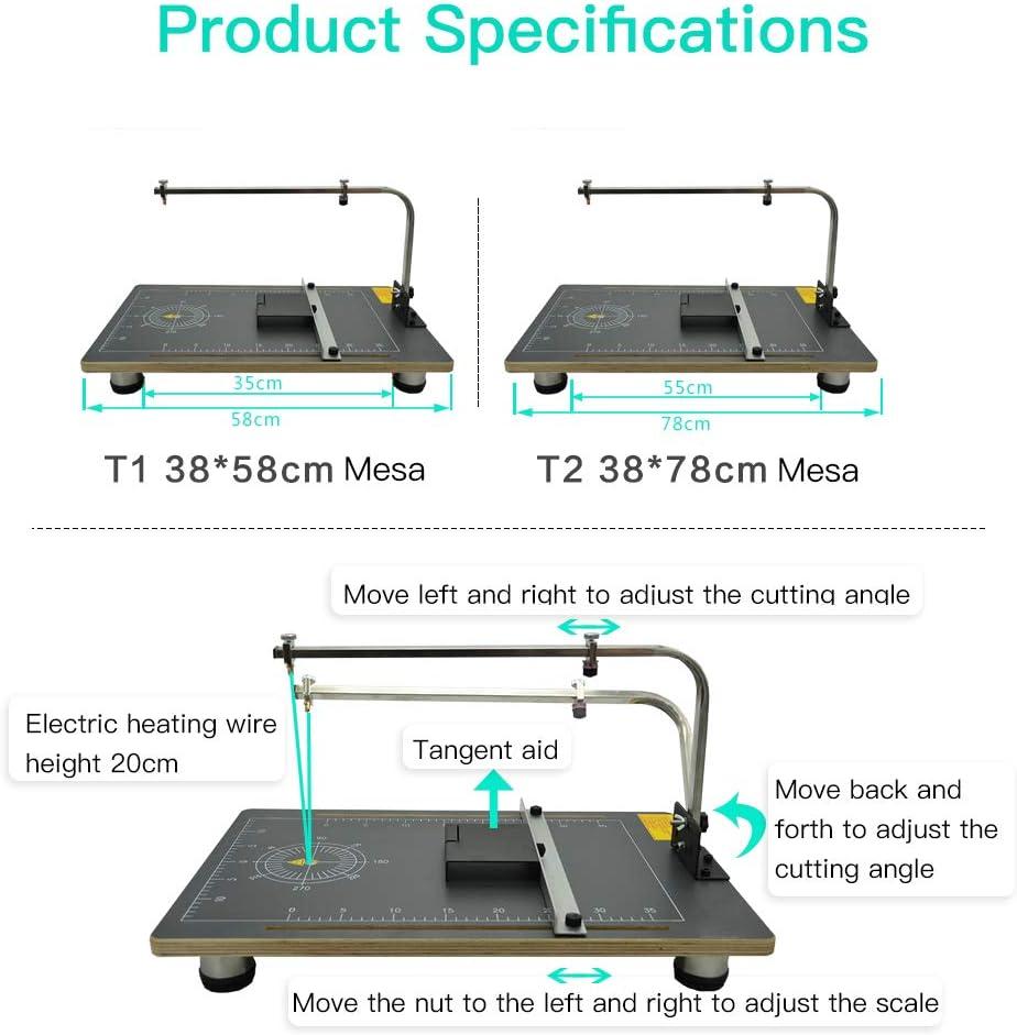 D/écoupeuse de mousse de table de GDCB table de travail de coupeur de polystyr/ène de fil chaud de panneau polyvalent de conseil de 220V 30W