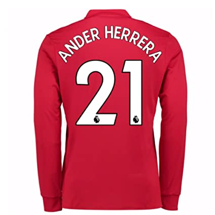 91ae8337cd1 Image Unavailable. Image not available for. Color  2017-2018 Man United  Long Sleeve Home ...