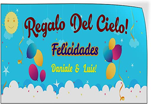 Felicidades B Lifestyle Baby Shower Celebration Outdoor Luggage /& Bumper Stickers for Cars Blue 28X20Inches Set of 5 Custom Door Decals Vinyl Stickers Multiple Sizes Regalo Del Cielo