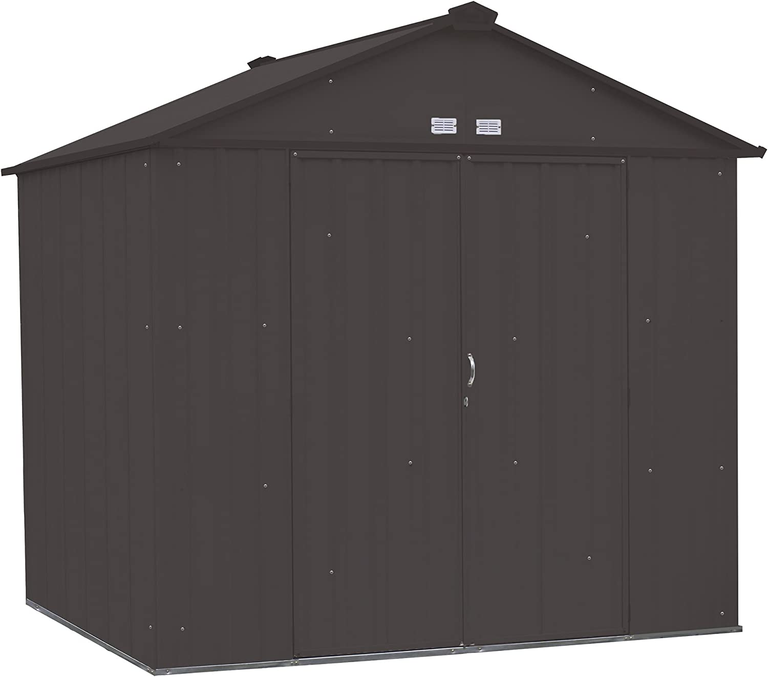 Arrow EZEE Shed High Gable Steel Storage Shed, Charcoal, 8 x 7 ft.