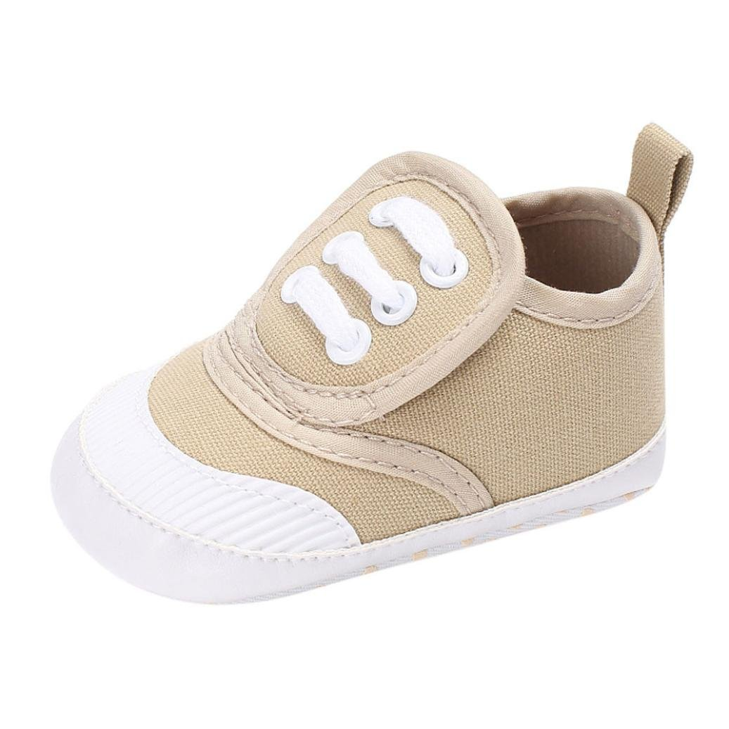 Witspace Infant Baby Boys Girls Anti-slip Crib Slippers Shoes Newborn Kids Canvas Prewalker Sneakers Kids Shoes