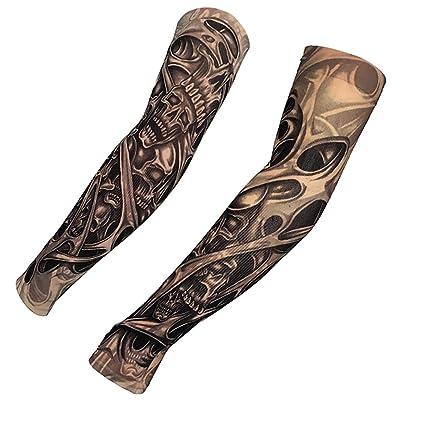 KEHUASHINA Artes Falso Tatuaje Temporal del Brazo Protector Solar ...