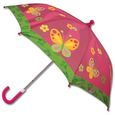 Paraguas de Stephen Joseph Rosa Mariposa Talla única: Amazon ...