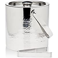 Godinger Silver Art Hammered Double Wall Ice Bucket W/tong