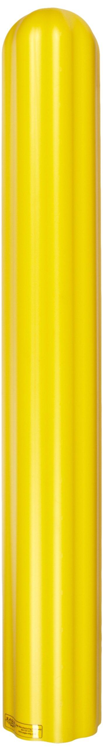 Eagle 1730 HDPE 6'' Bumper/Bollard Post Sleeve, Yellow, 7.875'' OD, 56'' Height