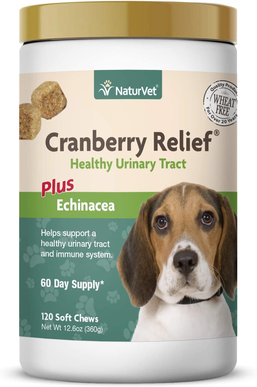 NaturVet Cranberry Relief Plus Echinacea Helps Support a Healthy Urinary Tract Immune System