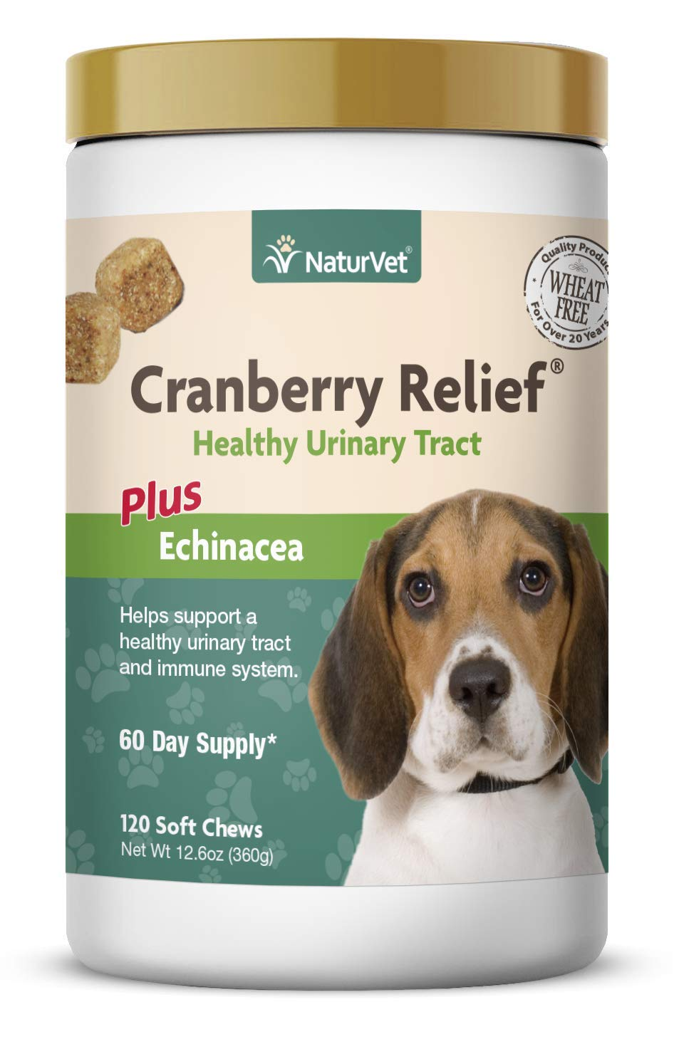 NaturVet - Cranberry Relief Plus Echinacea - Helps Support a Healthy Urinary Tract & Immune System - 120 Soft Chews by NaturVet