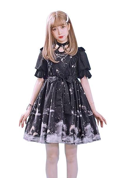 Amazon.com: Nite clóset Lolita vestido gótico victoriano ...