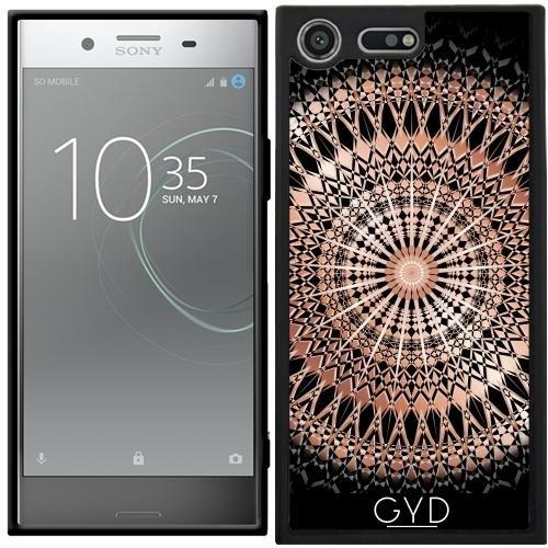 Funda Silicona para Sony Xperia XZ Premium - Mandala De Rosa De Oro Negro by Nina Baydur