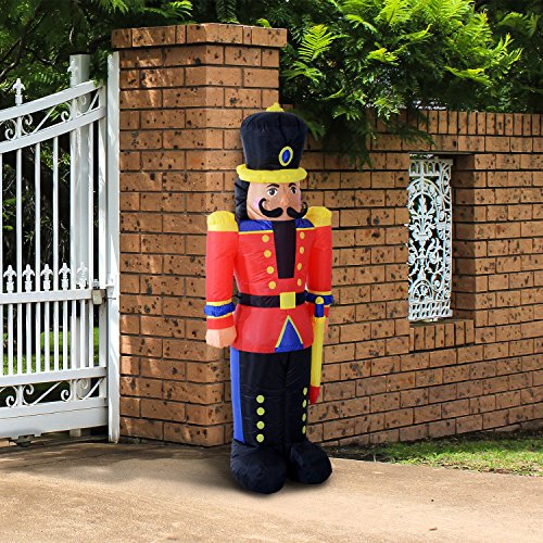 New MTN-G 6FT Inflatable Christmas Jumbo Toy Soldier Holiday Outdoor Yard Decor LED Lights -
