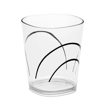 amazon corelle座標simple lines 14オンスアクリルガラス クリア