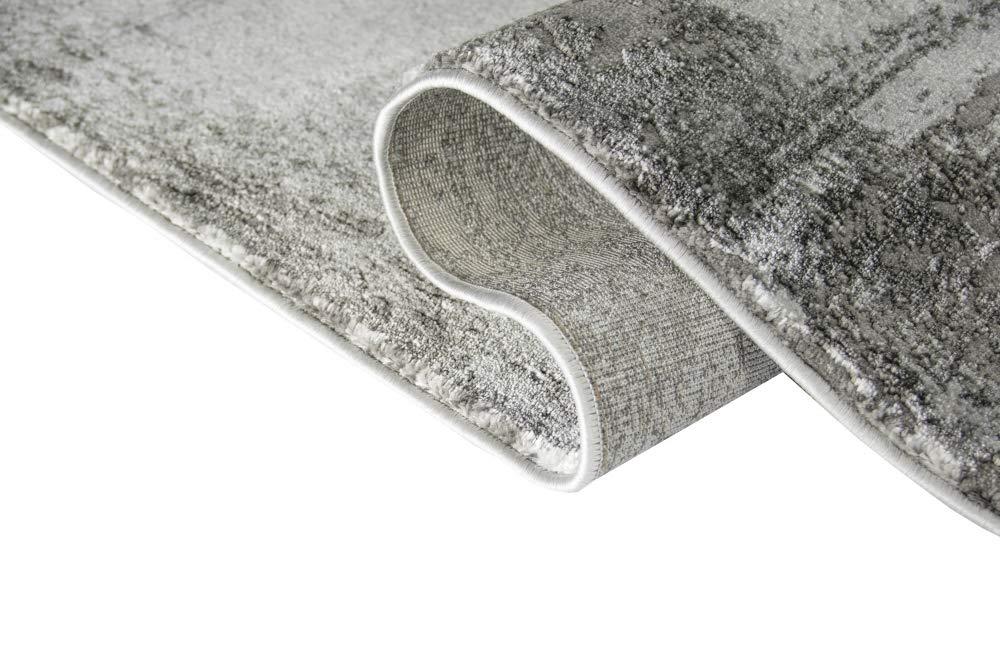 Designer Teppich Wohnzimmer Teppich mit mit mit Glanzfasern in Grau Größe 200 x 290 cm B07KQ5FK7D Teppiche 28394c