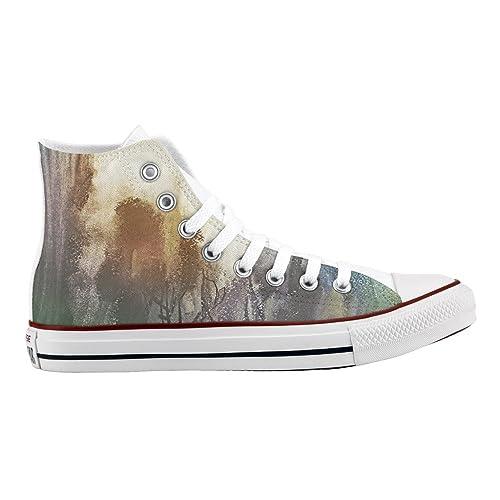 Personalizados Impresos E Zapatos De Artesanía Converse Woods Edqvfn